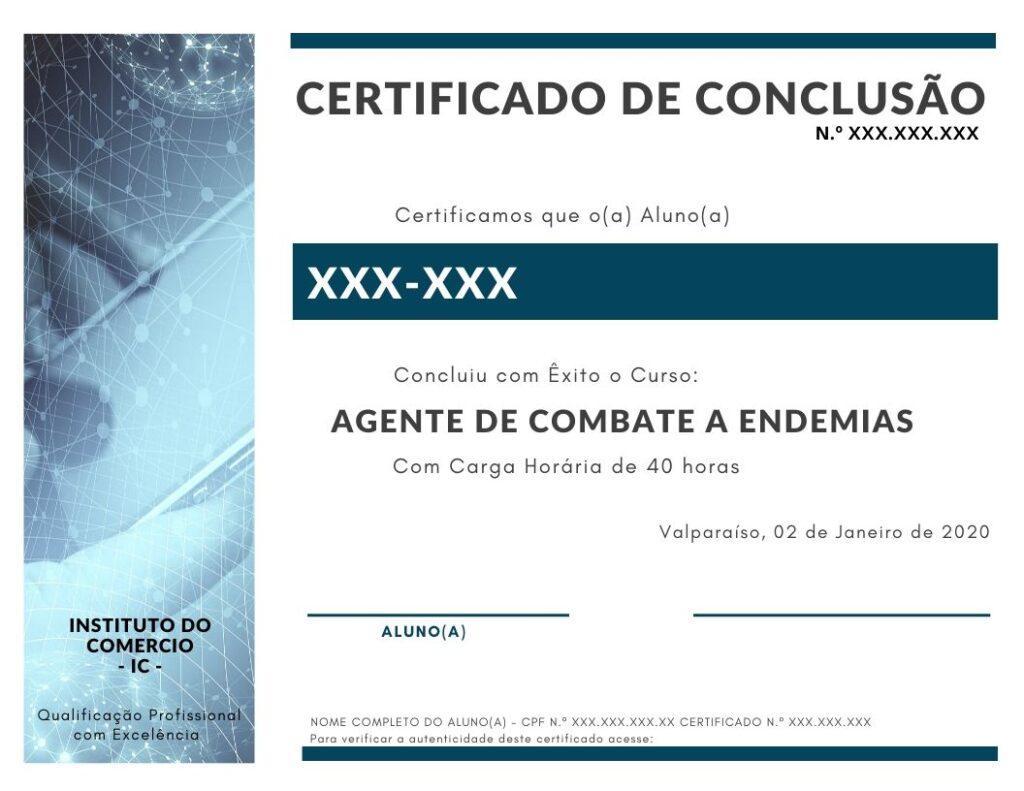 CERTIFICADO AGENTE DE COMBATE A ENDEMIAS IC
