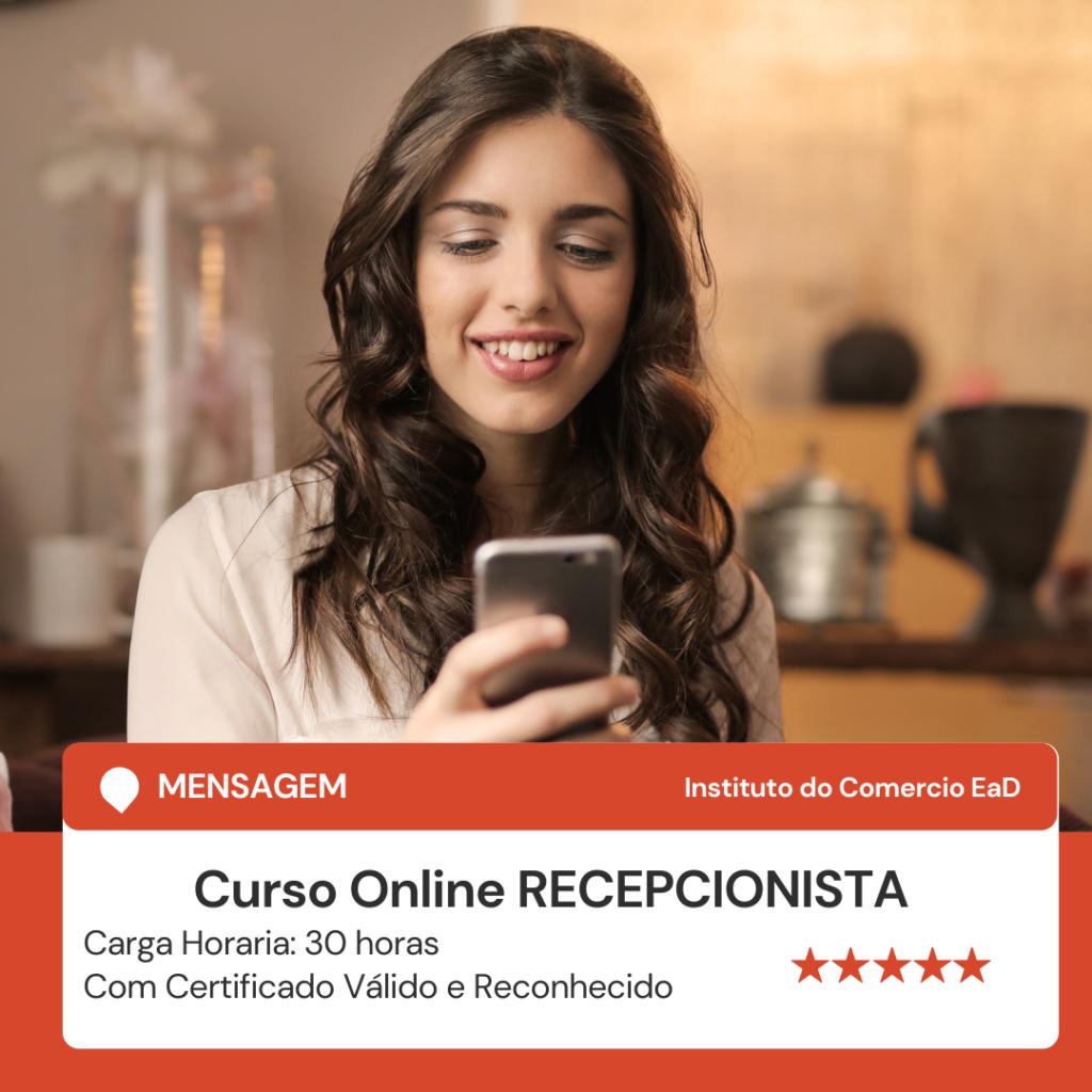 CURSO RECEPCIONISTA - ONLINE COM CERTIFICADO 2021
